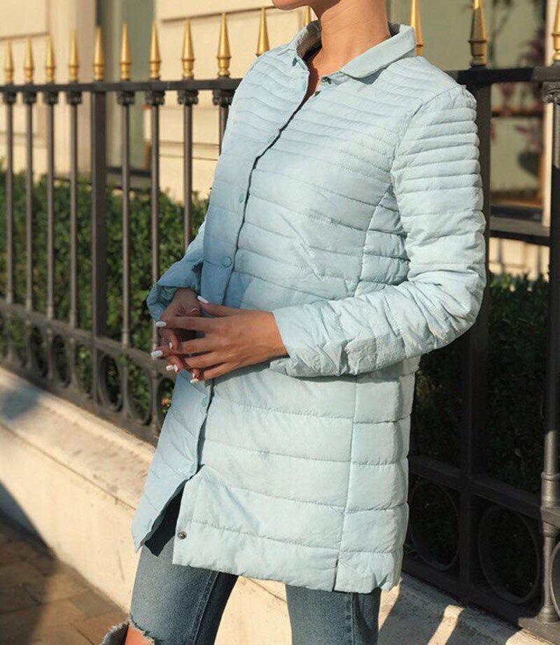 New 2017 Autumn Winter Jacket Women Casual Long Sleeved Medium Long Slim Thin Padded Parksa CoatÎäåæäà è àêñåññóàðû<br><br>