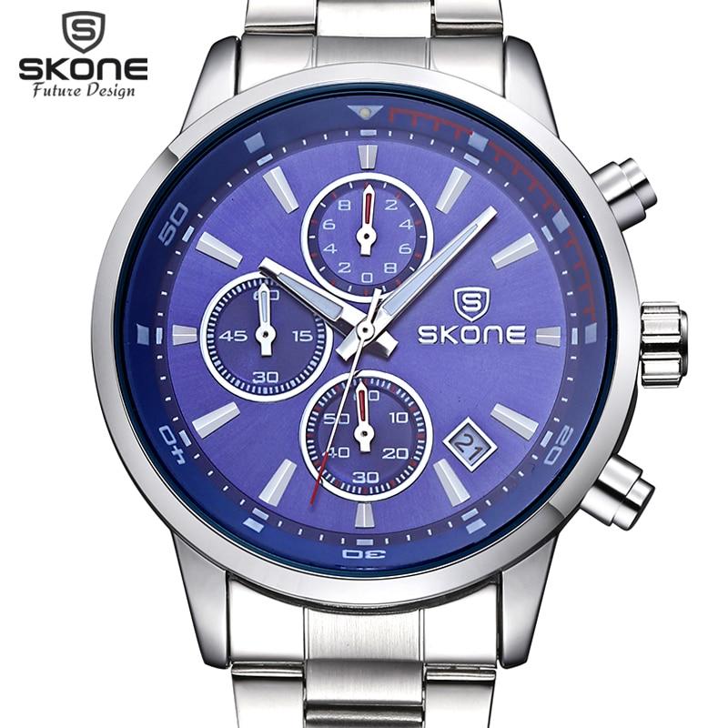 SKONE Fashion Chronograph Sport Mens Watches Top Brand Luxury Quartz Watch Reloj Hombre 2017 Clock Male Hour Relogio Masculino<br>