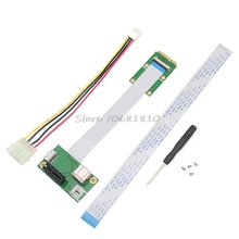 Mini PCI-E to PCI-E Express 1X Extension Cord Adapter Card with USB Riser Card -R179 Drop Shipping(China)