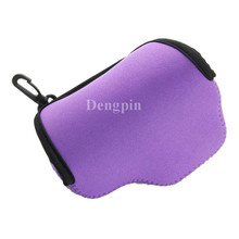 Dengpin Hot Sale Purple Neoprene Soft Shockproof Camera Case Bag Cover for Sony Alpha A6000 16-50mm Lens Free Shipping