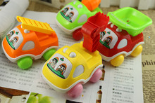 Cartoon Animals Friction Push and Go Toy Cars Inertia Engineering Truck Scooter Toy Car Early Educational Toddler Baby Toy