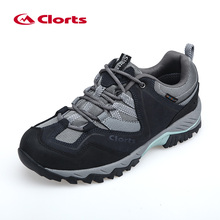Clorts Outdoor Shoes Men Real Leather Hiking Shoes Breathable Trekking Shoes Waterproof Climbing HKL-826A/B/D/G(China)