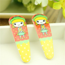 6pcs/lot cute Cartoon printing Hairpin Hairclips Girl Hair Accessories Kids Hair clip Christmas Gift factory price(China)