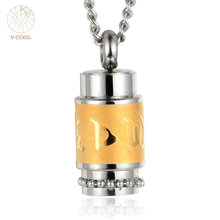 Men's Stainless Steel Perfume Bottle Cremation Pendant Necklace Male Memorial Ash Keepsake Cremati cremation jewelry VP195