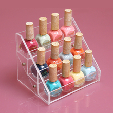 New Promotion Can Put On12 cells Nail Polish Rack Cosmetics Display Shelf Acrylic Makeup Organizer Lipstick Frame