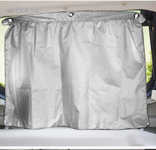 The new one pair adjustable car window sun shade interlocking mesh window curtains UV sun mask accessories