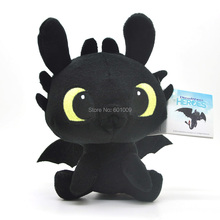 "Free Shipping GENUINE How To Train Your Dragon 2 * 6"" TOOTHLESS Night Fury Plush toy"