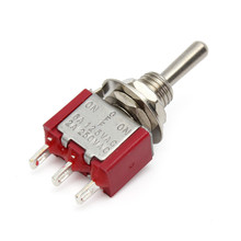 Mini Metal Red ON/ OFF Small Toggle Switch SPDT New(China)