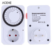 EU Plug 24 Hour Programmable Mechanical Electrical Plug Program Timer Power Switch Energy Saver(China)