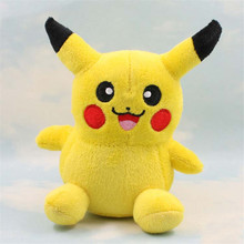 5.5'' 15cm Cute Lovely Laugh Pikachu Soft Stuffed Plush Toy Dolls(China)