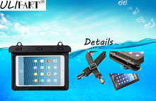 "ULIFART 7"" Waterproof Dry Bag Water Resistance Pouch Case Cover Protector Skin For Ipad Mini1/2/3 Kindle Ebook Tablet Iphone"