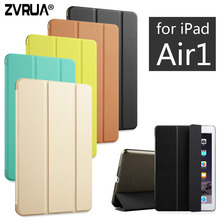 For iPad Air 1 ,ZVRUA YiPPee Color PU Smart Cover Case Magnet wake up sleep For APPle iPad Air1 Retina,2013 Release(China)