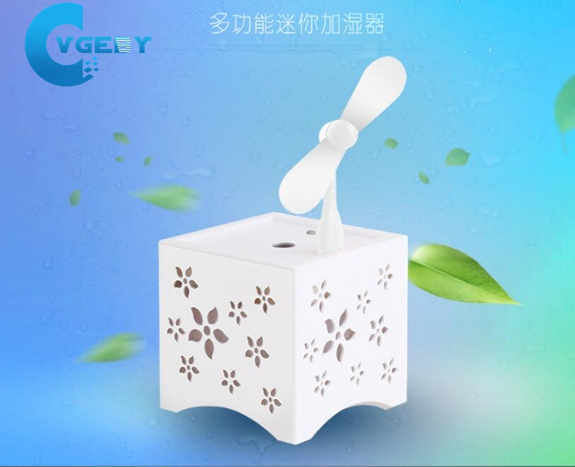 Mini USB Ultrasonic Air humidifier Purification Spray Aromatherapy with Fan Home Office Night Light Air Aroma Humidifier<br><br>Aliexpress