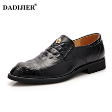 DADIJIER New Men Loafers Breathable brand Top quality Split Leather shoes Dress Business shoes Men shoes ST86
