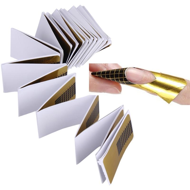 Hot 100 Pcs Nail Form Tips Nail Art Guide Form Acrylic Tip Gel Extension Sticker Nail Polish for UV Gel Nail Art Tip #BSEL<br><br>Aliexpress