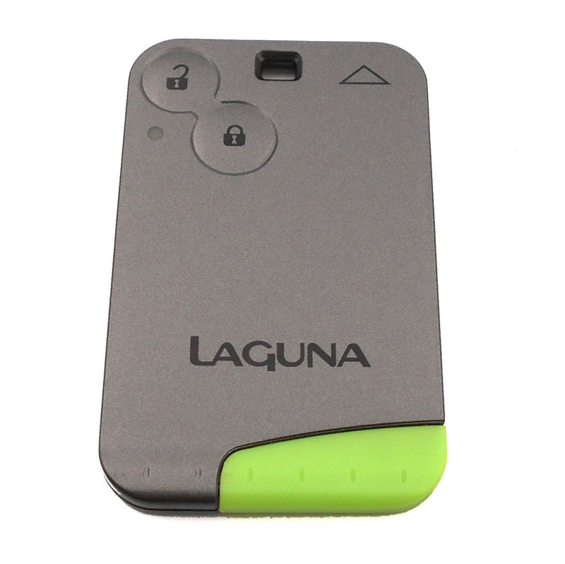 Free Shipping Smart Card Remote Key Case Shell For Renault Laguna Espace 2 Buttons Car Key Blank Shell Case Cover With Blade(China)