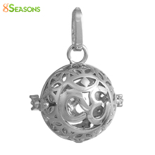 "8SEASONS Copper Chakra Ball Wish Box Pendants Round Yoga Message""OM"" Can Open(Fit Bead Size: 16mm)3.6cm x2.6cm-3.5cm x2.6cm"