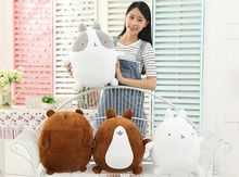 Super Cute Korea Rabbit Molang Plush Toy Doll, Potatoes Bear Molang Rabbit Plush Toy Female Valentines Day Gifts 25CM