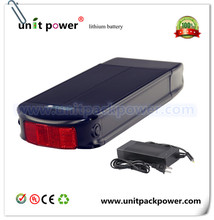 EU US Free Taxes and Duties Rear Rack Plat Ebike Battery 48V 12Ah Lithium ion Battery with 54.6V 2A charger(China)