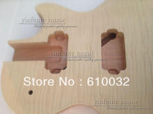 one wood Unfinished electric guitar   body Mahogany & maple top
