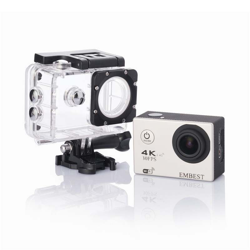 EMBEST 4K WIFI Sports Action Camera With Remote Control Ultra HD Waterproof Underwater 30M Camcorder 16MP 170 Degree Wide Angle 11