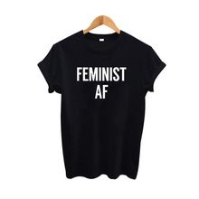Buy Feminist AF harajuku Slogan T Shirt Women Cotton Casual Funny T-Shirt Summer Lady Top Tee Hipster Tumblr for $6.93 in AliExpress store