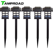 TAMPROAD 4 Pcs Waterproof Cottage Style LED Solar Garden Light Outdoor Garden Path Lawn Post Lamps Decoration Landscape Lighting(China)