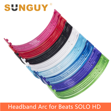SUNGUY Replacement Headphone Parts Top Headband Arc for Beats Solo HD Wired Headphones Helmets Plastic Shell Glossy Surface