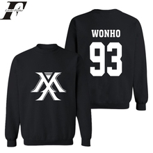 Hip Hop oversized hoodie New Arrival Mens 93 Hoodies and Sweatshirt MONSTA X men clothing Streetwear hoodie moletom masculino(China)