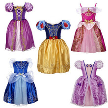 Sofia Cinderella Rapunzel Belle Snow White Girl Kid Dress Princess Kids Girls Dresses Cosplay Christmas Costume Children Clothes