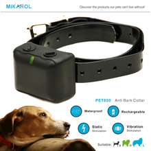 Lowest Price Dog Training Collar Anti Bark with Rechargeable, Waterproof No Bark Stop Collar for Electric Dog Collar Shock(China)