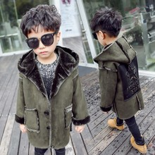 2017 new fashion autumn winter boys faux fur coat baby thicken outerwear child clothing children clothes(China)