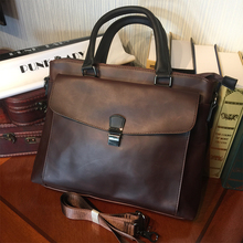 ETONWEAG Famous Brands Italian Leather Briefcases Men Messenger Bags Brown Vintage Lawyer Laptop Bag Casual Business Briefcase(China)