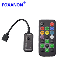 Foxanon Brand DC12 - 24V 2*3A RGB Led Controller Dimmer IR Remote Control For 5050 3528 3014 RGB RGB Led Strip