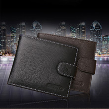 Hot Selling!Indira2016 Men Leather Card Cash Receipt Holder Organizer Bifold Wallet Purse  Wholesale
