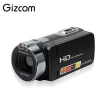Gizcam 2.7 Inch HDV-312P Digital Video Camera Camcorders DV Rotating LCD Screen Digital Cameras Micro Cameras EU/US/UK Plug