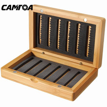 Bobing 14x8.5x3cm Vintage Bamboo Products Lure Baits Hook Fly Fishing Tackle Box Storage Case Yellow Color Fishing Tackle Boxes(China)