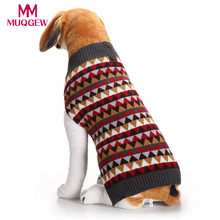 ship from us small large pet dog sweater christmas winter warm costume lattice stripes print cute clothes knitted acrylic new year sweater - Large Dog Christmas Sweaters