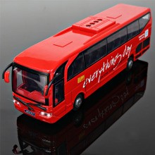 Newest Large Size 1:32 Scale Models Car Long-distance Bus,Lovely Diecast and Toy Vehicles Educational Toys