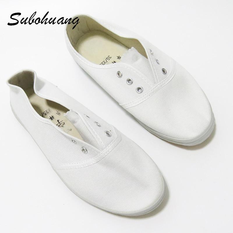 Hot sale 2017 women canvas shoes spring breathable women white soft flat shoes casual shoes summer women comfortable shoes <br>