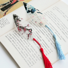 2Pcs/set Kawaii Classical Elegance Creative tassel Bookmark Chinese wind natural Collectibles leaves vein Bookmarks Stationery
