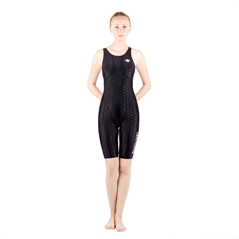 Solid Black Women Wide Strap Competition Racing Swimsuit Sport Practice One Piece Sexy Patchwork Plus Size Paded BathingSwimwear<br>