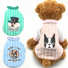 Cartoon Dog Printed Pet Costume Autumn Winter Dog Clothes Brand Small Dog Coat for Cats Bulldog S M L XL XXL Pet Supplies(China)