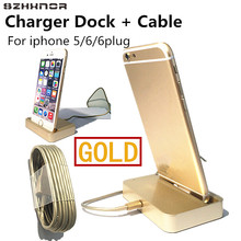 SZHXNOR 2in1 Charger Dock For Iphone X 8 6 6S plug 5 5s iPod Touch 5 Nano 7 + 8 pin Smart Chargering Cable Fit IOS 10 IOS11,GOLD(China)