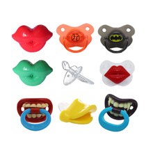 Baby Pacifiers Soother Silicone Lip Pacifiers for Baby Teethers Kids Pacifiers Nipples for Children Dummy Lips Funny Pacifier