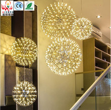 Modern art LED chandelier Creative personality living room restaurant bar chandeliers flower fire spherical chandeliers