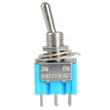 1 PC Hot Selling DPDT Mini Toggle Switch ON-ON W/Flat Bat Lever 6A/125V VE520 P50(China)