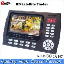 Satellite TV Receiver 4.3 Inch Portable Multifunctional HD Satellite Finder Monitor dvb s2(China)