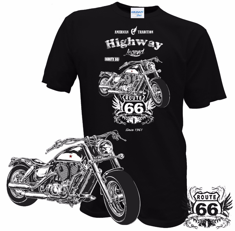 6XL /& Tall Route 66 Biker T Shirt Road Trip Custom Chopper Small