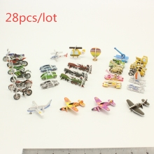 28pcs/set  Puzzles of various Transport truck train car boat aircraft  tank Develop intelligence eva puzzle